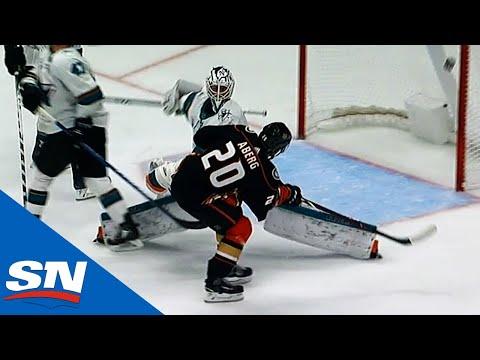 Aberg with breakaway goal vs Sharks- SocialZon Videos