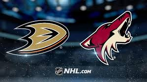 ducks vs coyotes- by NHL