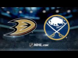 Ducks vs Sabres