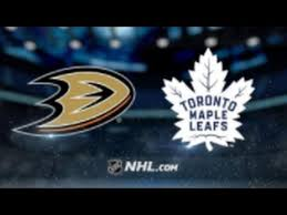 2- Ducks vs Maple Leafs