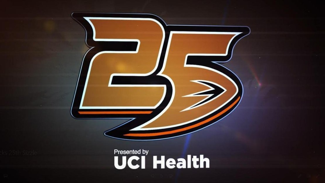25th Anniversary logo- Anaheim Ducks