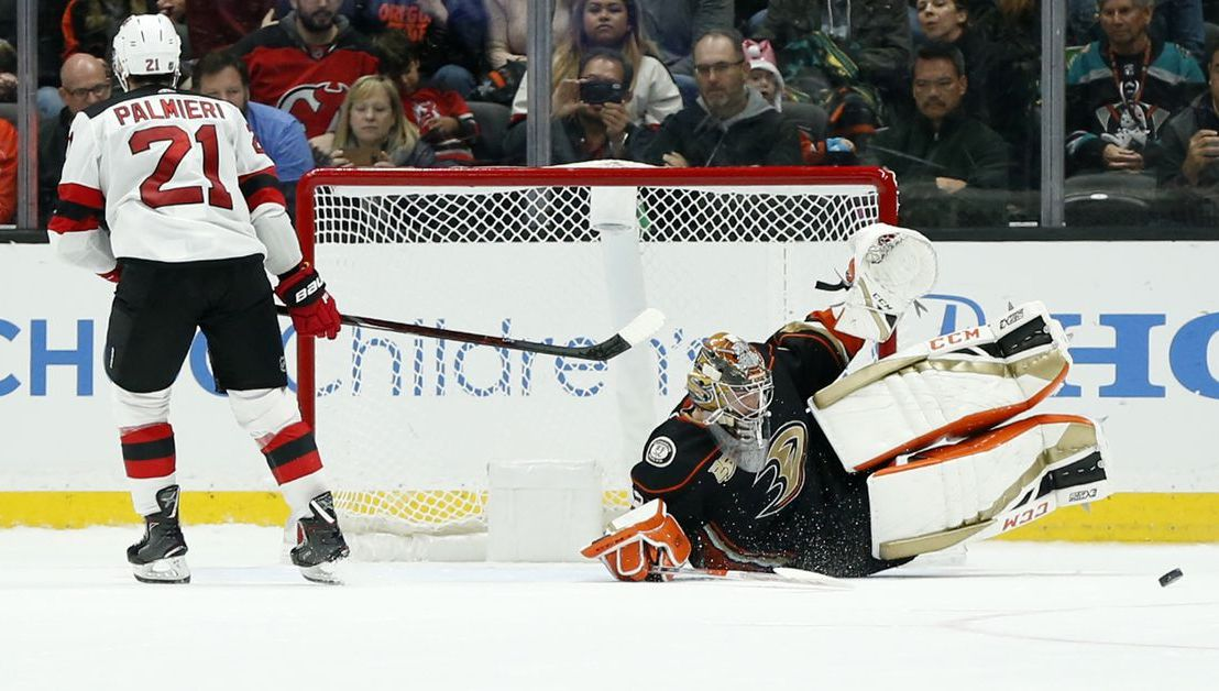 Ducks Win 6-5 in a Shootout over the Devils, Sprong gets 1st SO Goal as a Duck