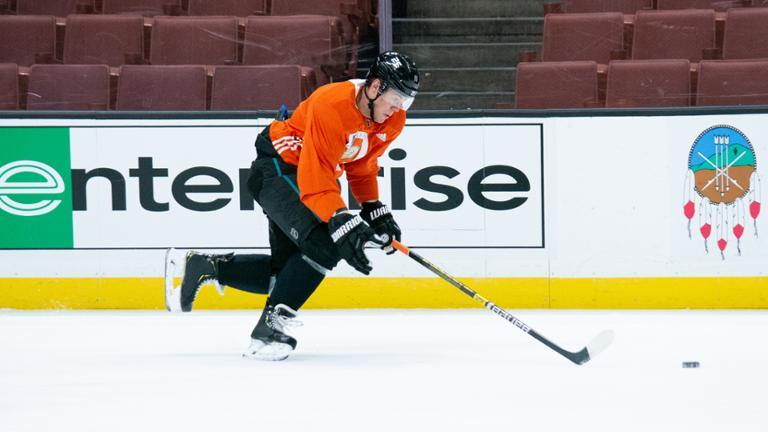 Sprong 1st practice- Anaheim Ducks